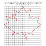 Plotting Coordinate Points Art  Red Maple Leaf A Within Plotting Points Worksheet Pdf