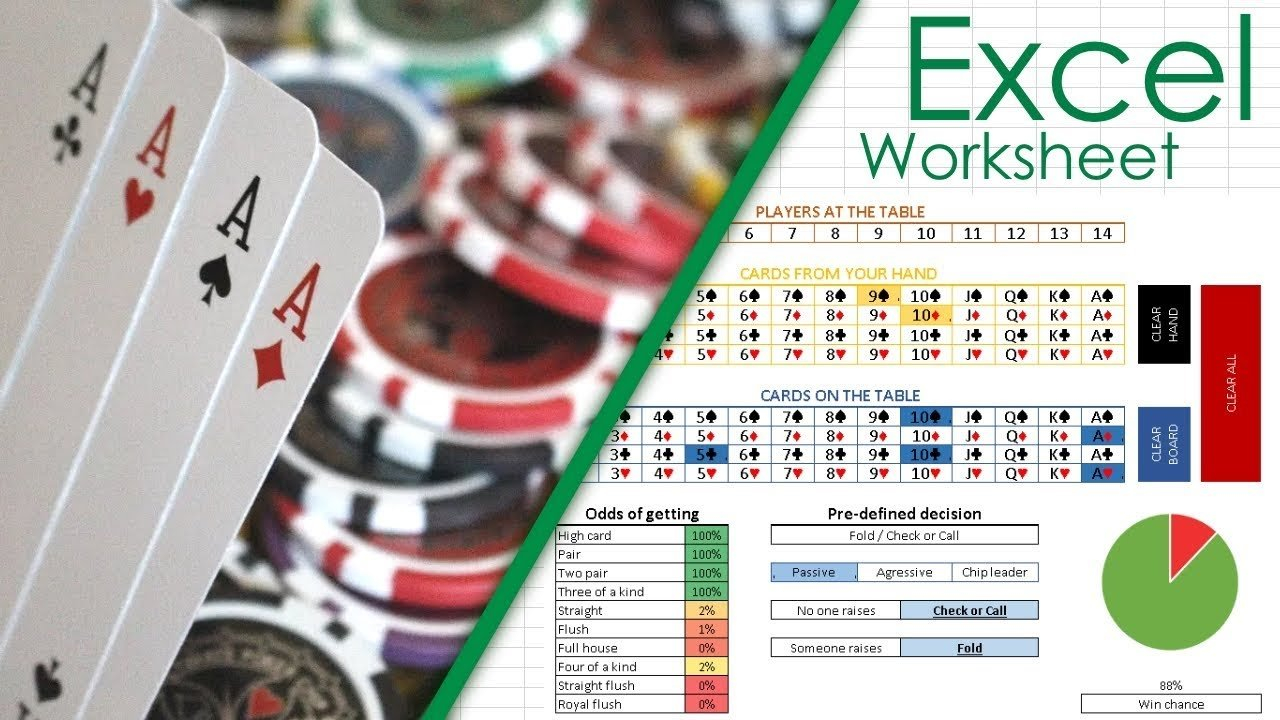 Poker Odds Hand Strength Calculator Excel Sheet | Spreadsheet ... Along With Poker Odds Spreadsheet