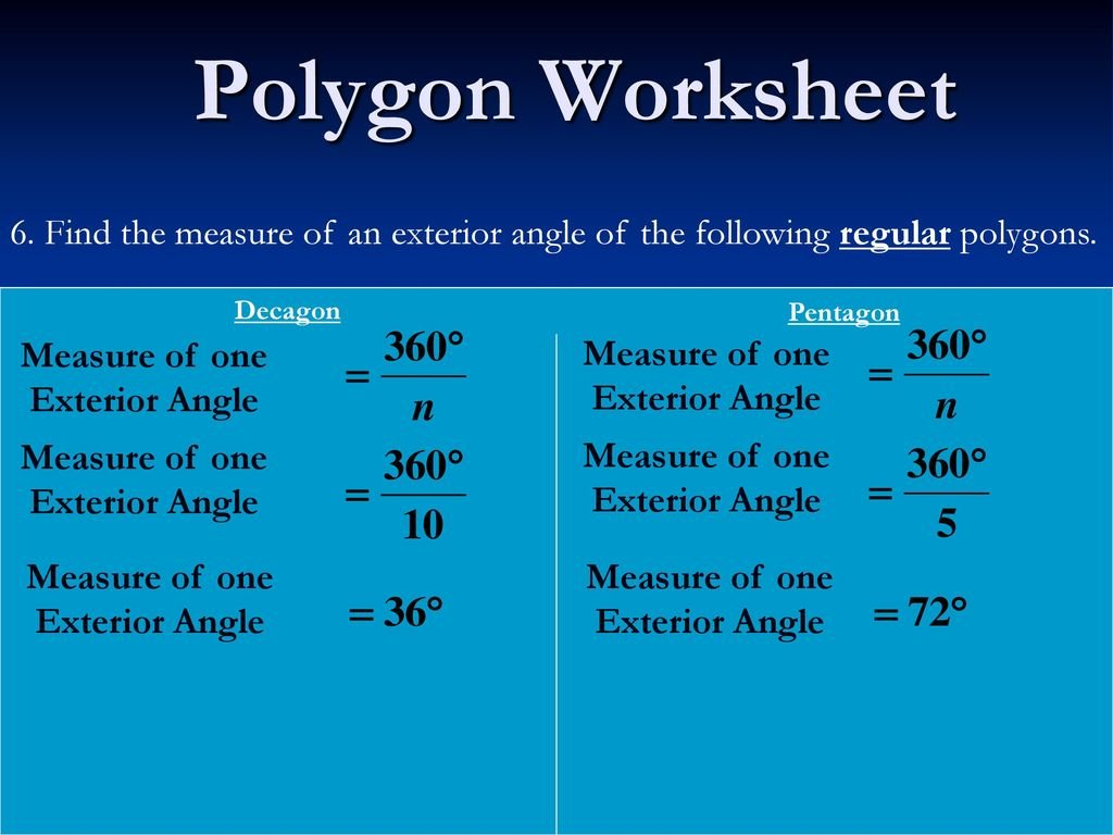 Polygon Worksheet 1 Concave Polygon Convex Polygon  Ppt Video Throughout Find The Interior Angle Sum For Each Polygon Worksheet