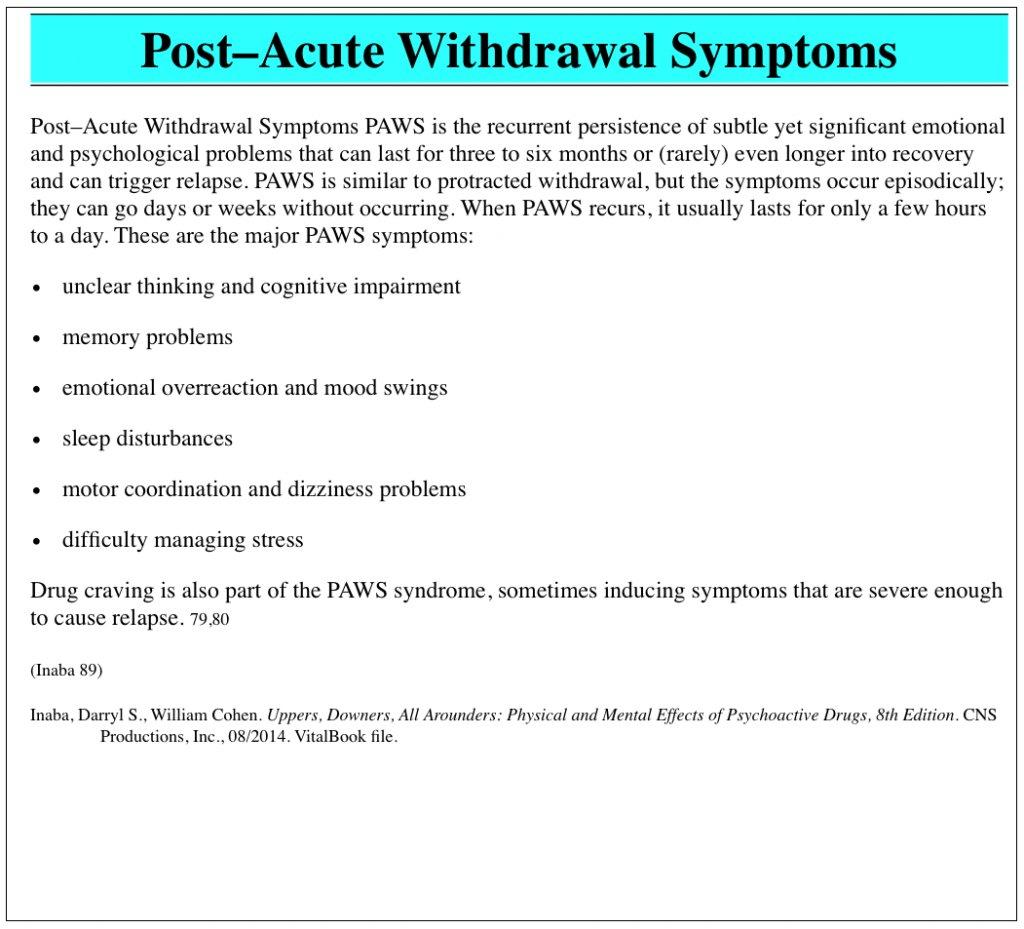 Post Acute Withdrawal Syndrome Worksheet Post Acute Withdrawal With Post Acute Withdrawal Syndrome Worksheet