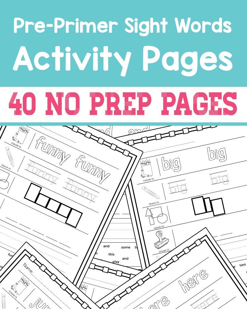 Preprimer Sight Words  No Prep Worksheets » One Beautiful Home Along With Pre Primer Words Worksheets