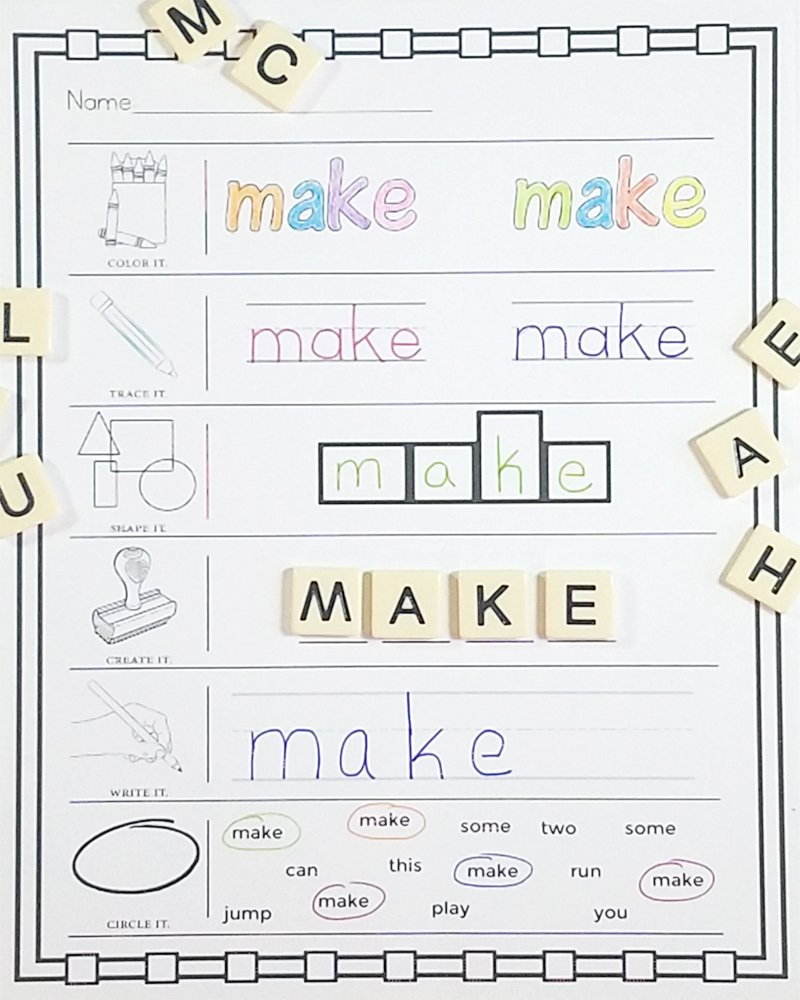 Preprimer Sight Words  No Prep Worksheets » One Beautiful Home As Well As Pre Primer Words Worksheets