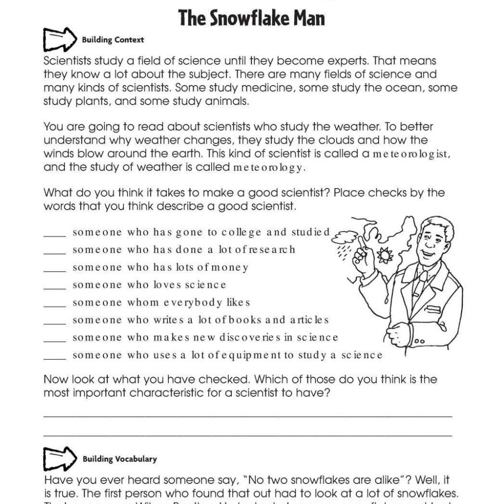 Pretty 7Th Grade Reading Comprehension Worksheets  Worksheet Together With Free Science Reading Comprehension Worksheets