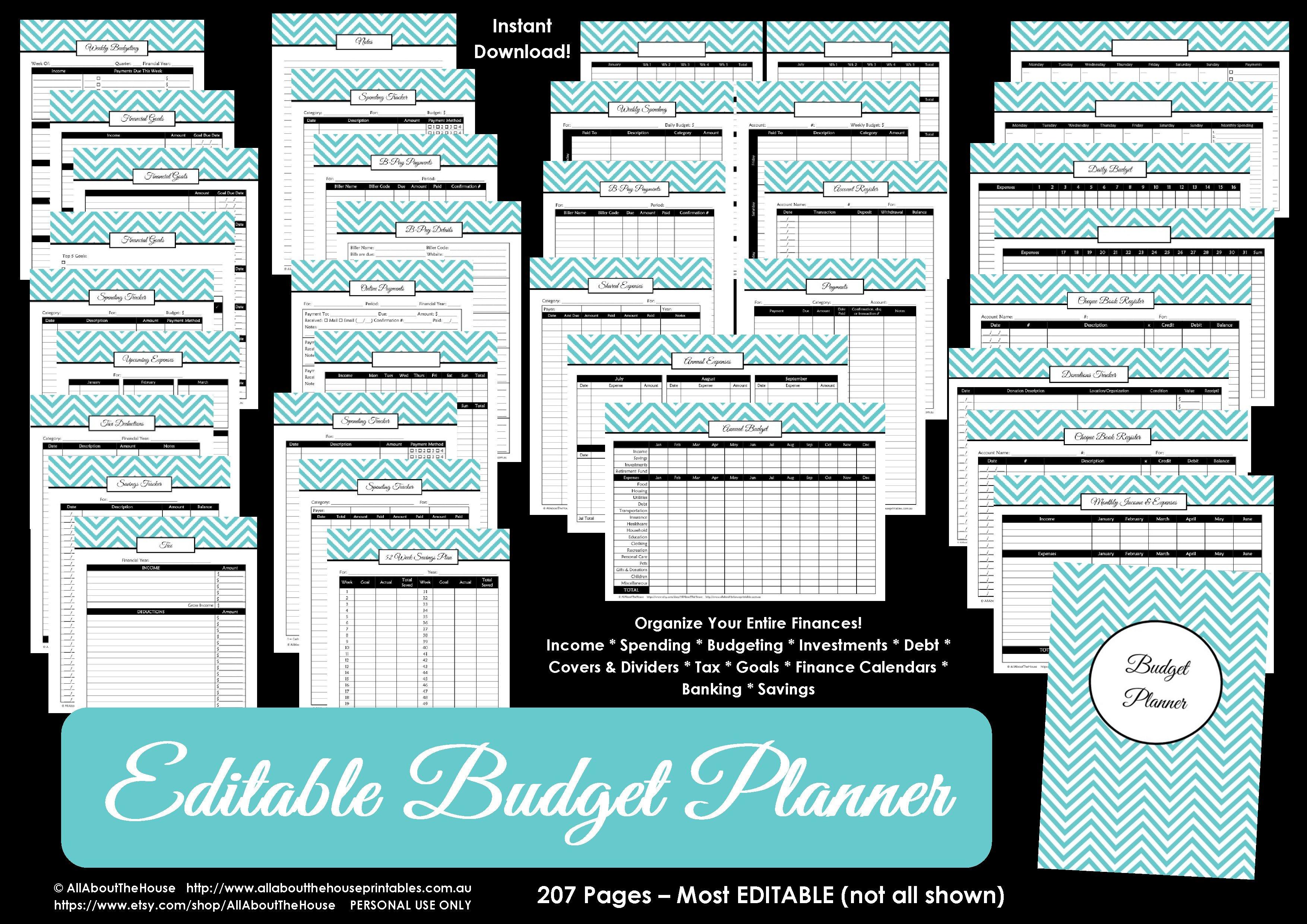 Printable Budget Plannerfinance Binder Update  All About Planners And Free Printable Budget Binder Worksheets