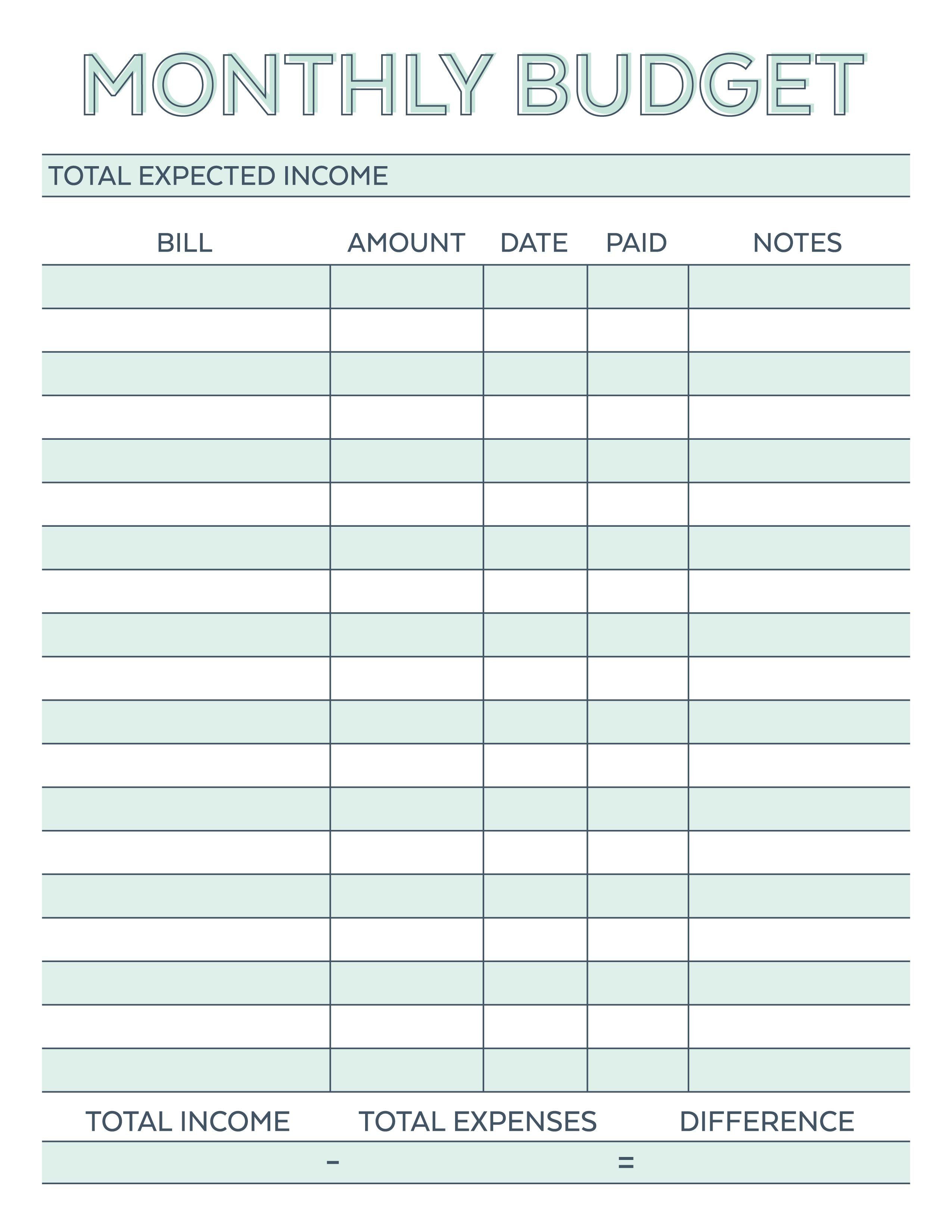 Printable Budget Worksheet New Pin By Melody Vliem On Printables Bud ... Or Printable Spreadsheet Template