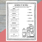 Printable Mothers Of The Bible Worksheet  Path Through The Narrow Gate For Free Bible Worksheets For Kids