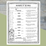 Printable Mothers Of The Bible Worksheet  Path Through The Narrow Gate With Free Bible Worksheets For Kids