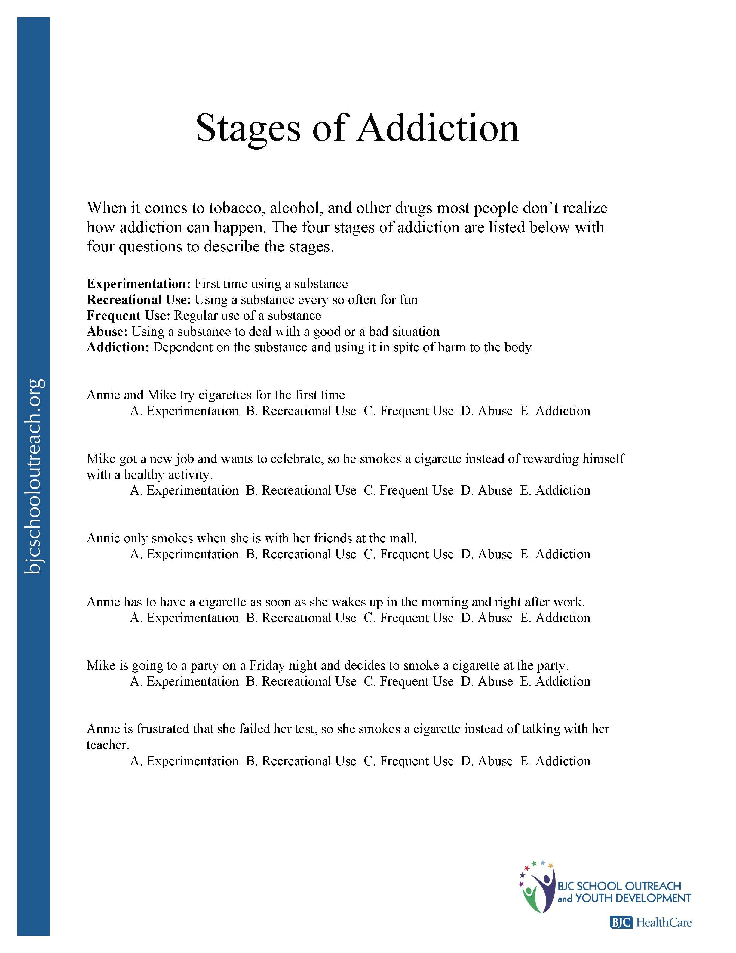 Printable Worksheets Throughout Substance Abuse Worksheets For Adults
