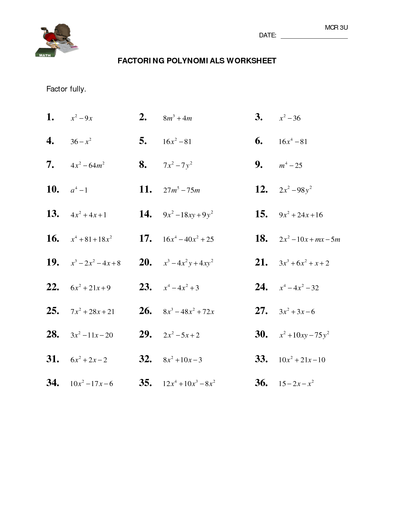 Printables Adding Polynomials Worksheet Lemonlilyfestival With Adding Polynomials Worksheet Pdf