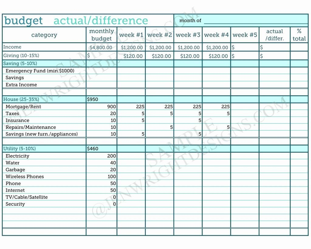 Project Budget Template Example Monthly Worksheet Excel Personal For Budget Worksheet Examples