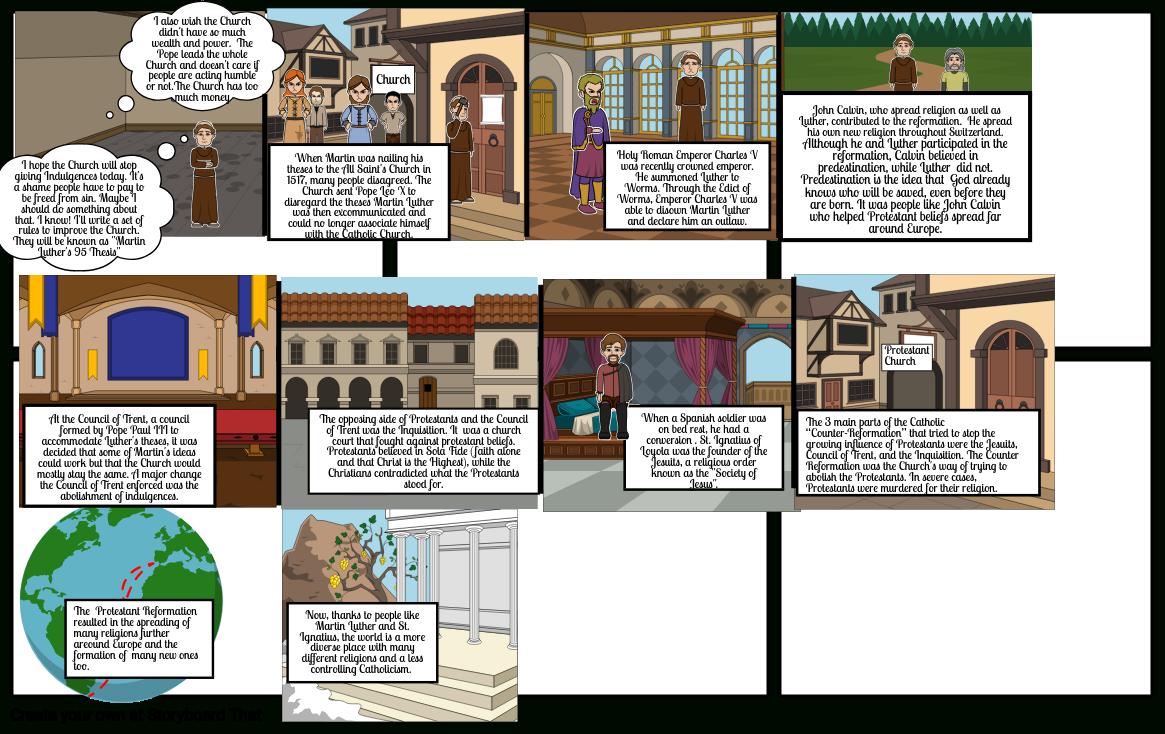 Protestant Reformation Comic Storyboardaberenyi Along With Protestant Reformation Worksheet Pdf
