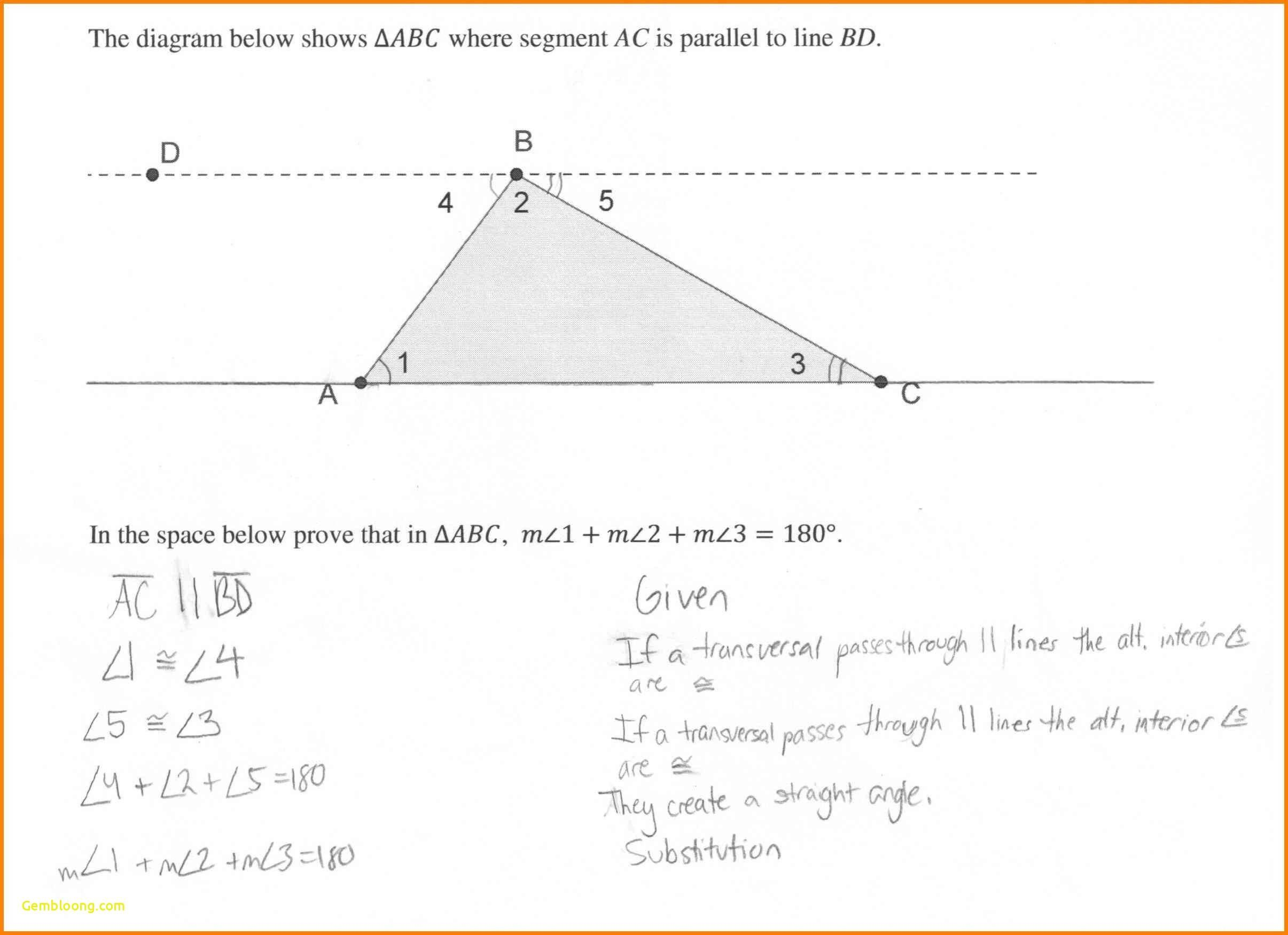 Proving Triangles Congruent Worksheet  Cramerforcongress Also Triangle Proofs Worksheet Answers