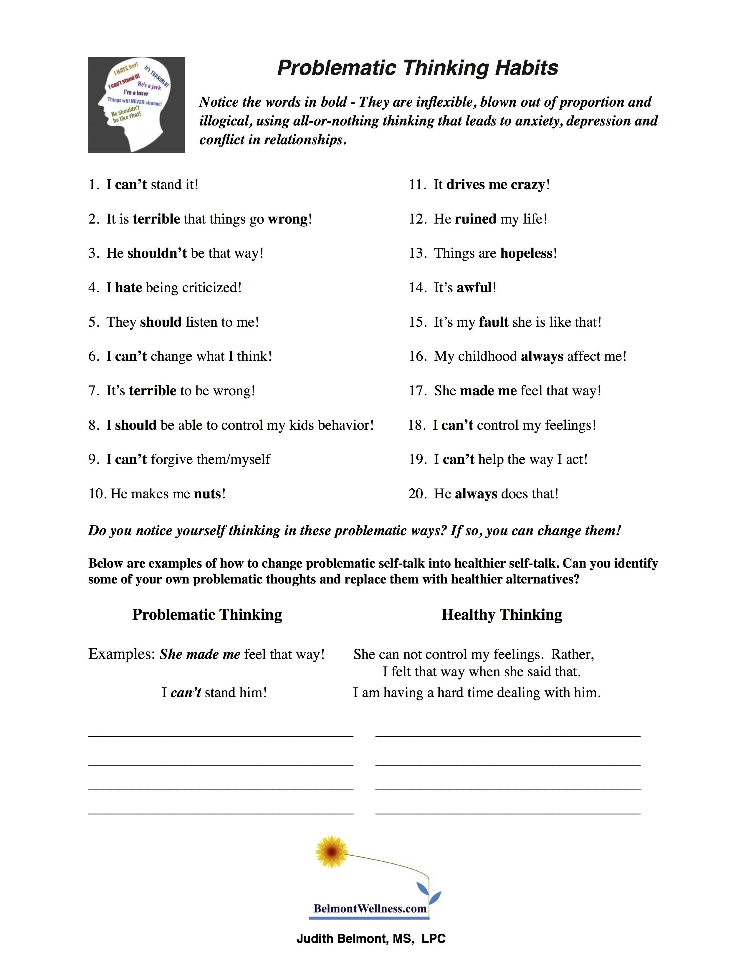 Psychoeducational Handouts Quizzes And Group Activities  Judy Intended For Youth Group Worksheets