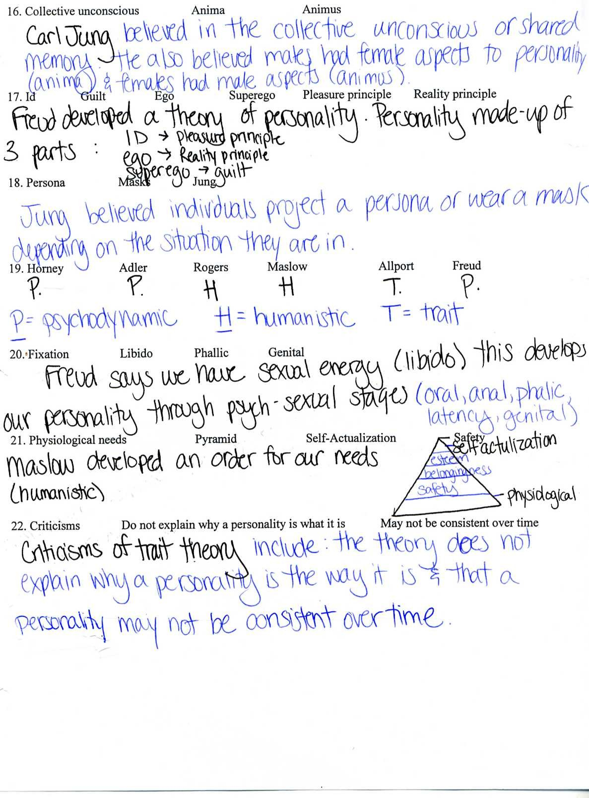 Psychology Homework  Ms Andrews' Webpage As Well As Crash Course Psychology Worksheets