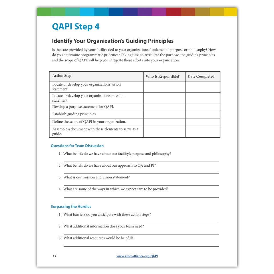 Qapi Step 4 Identifying Guiding Principles Worksheet  Atom Alliance With Step 4 Worksheet