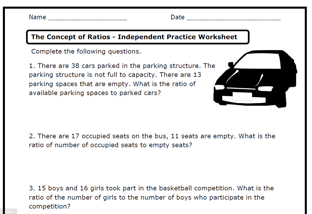 Ratios 6Rpa1 2 3 A B C D – Printable Worksheets – The Throughout Proportional Reasoning Worksheets 7Th Grade