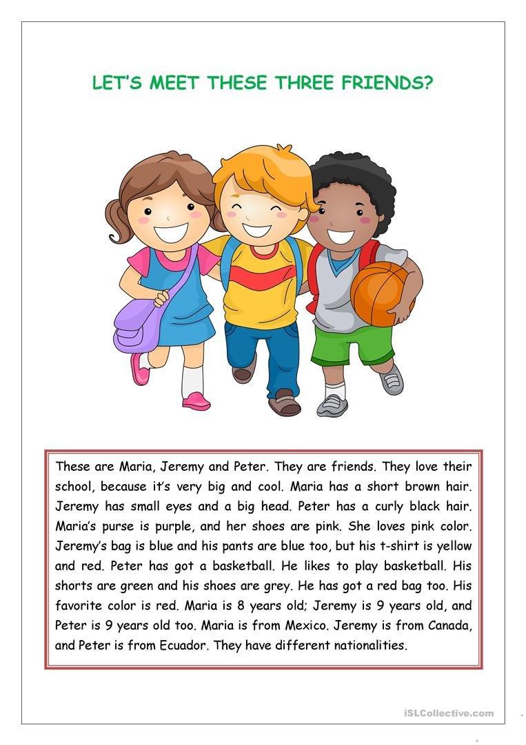 Reading Comprehension For Kids Worksheet  Free Esl Printable Inside Reading For Kid Worksheet