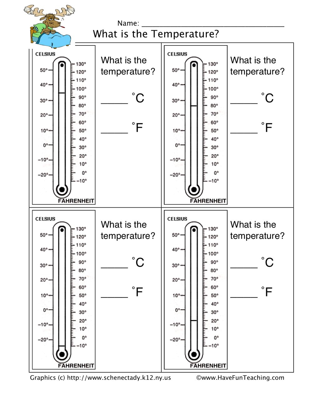 Reading Thermometers Worksheet  Have Fun Teaching Within Reading A Thermometer Worksheet