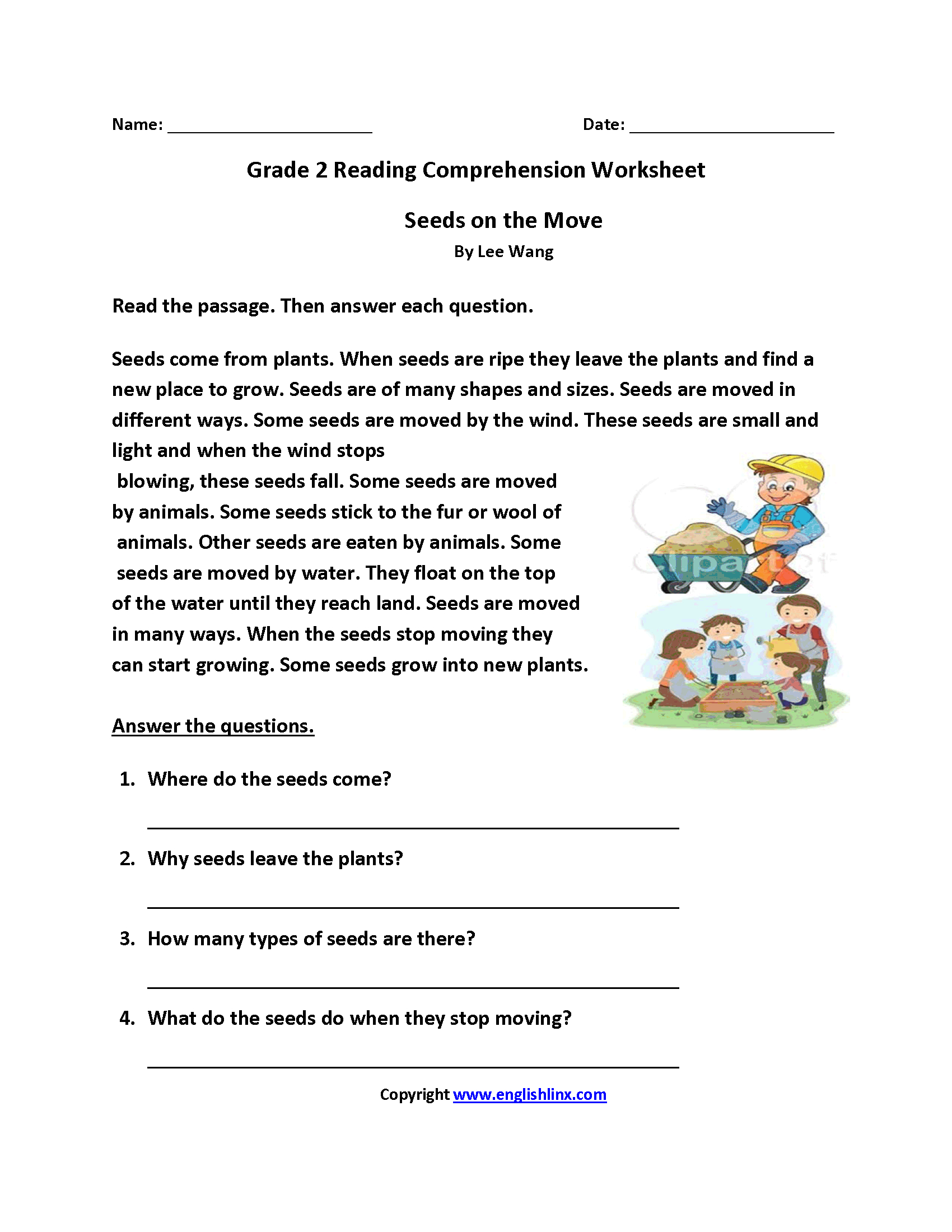 Reading Worksheets  Second Grade Reading Worksheets Pertaining To Reading Comprehension Worksheets For 2Nd Grade