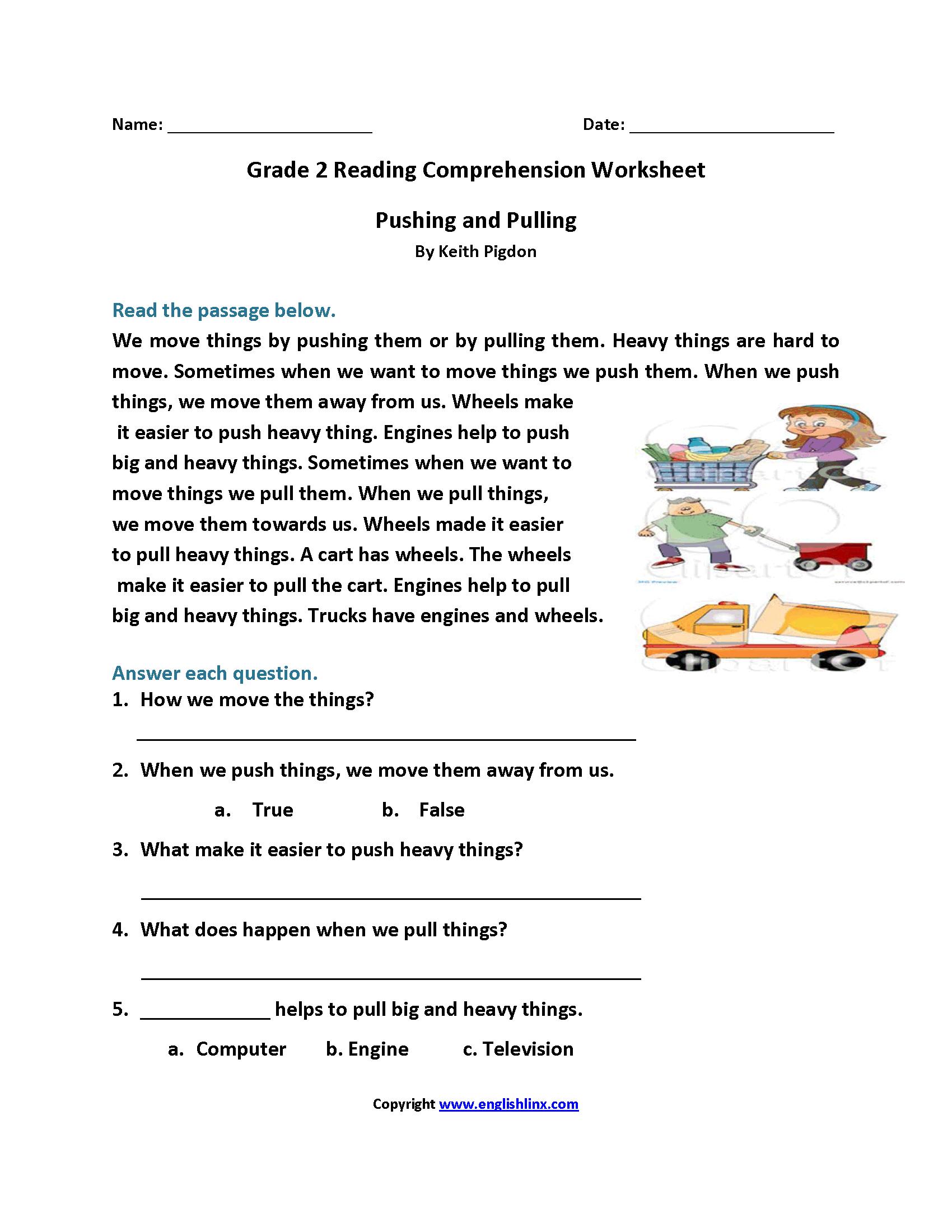 Reading Worksheets  Second Grade Reading Worksheets Together With Easy Reading Worksheets