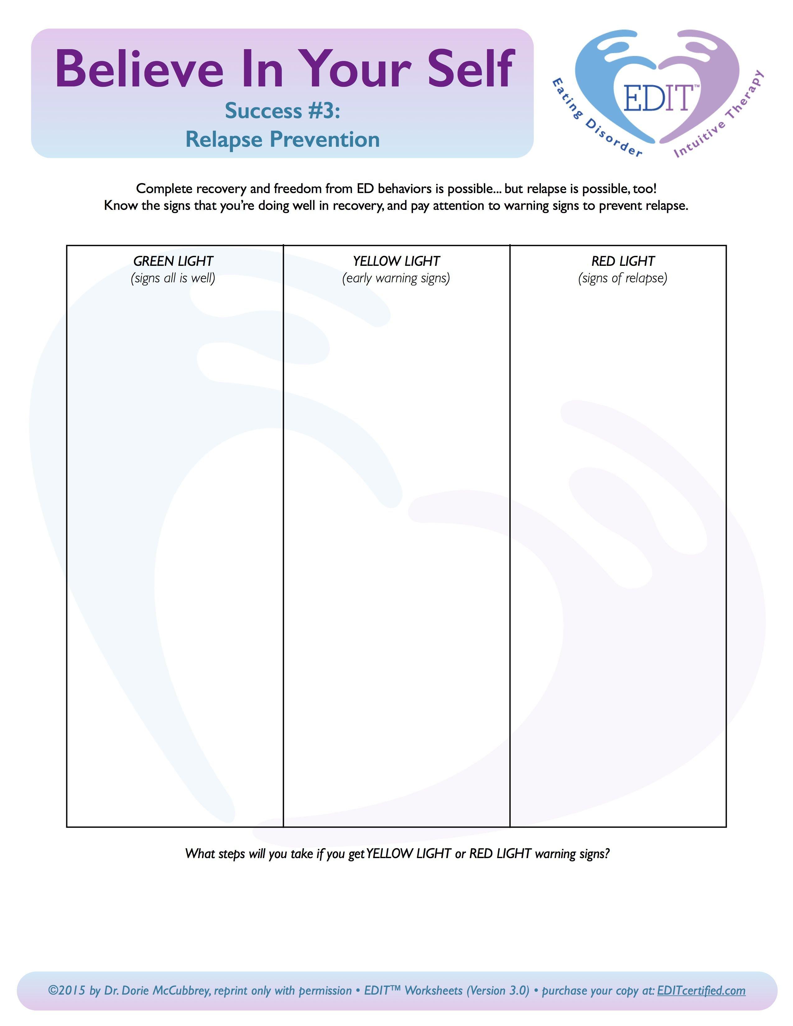 Relapse Prevention Worksheet  Yooob Also Eating Disorder Treatment Worksheets