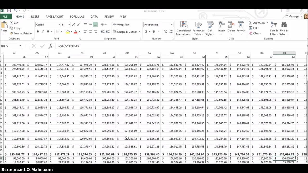 Retirement Planning Using Excel - Youtube As Well As Retirement Withdrawal Spreadsheet