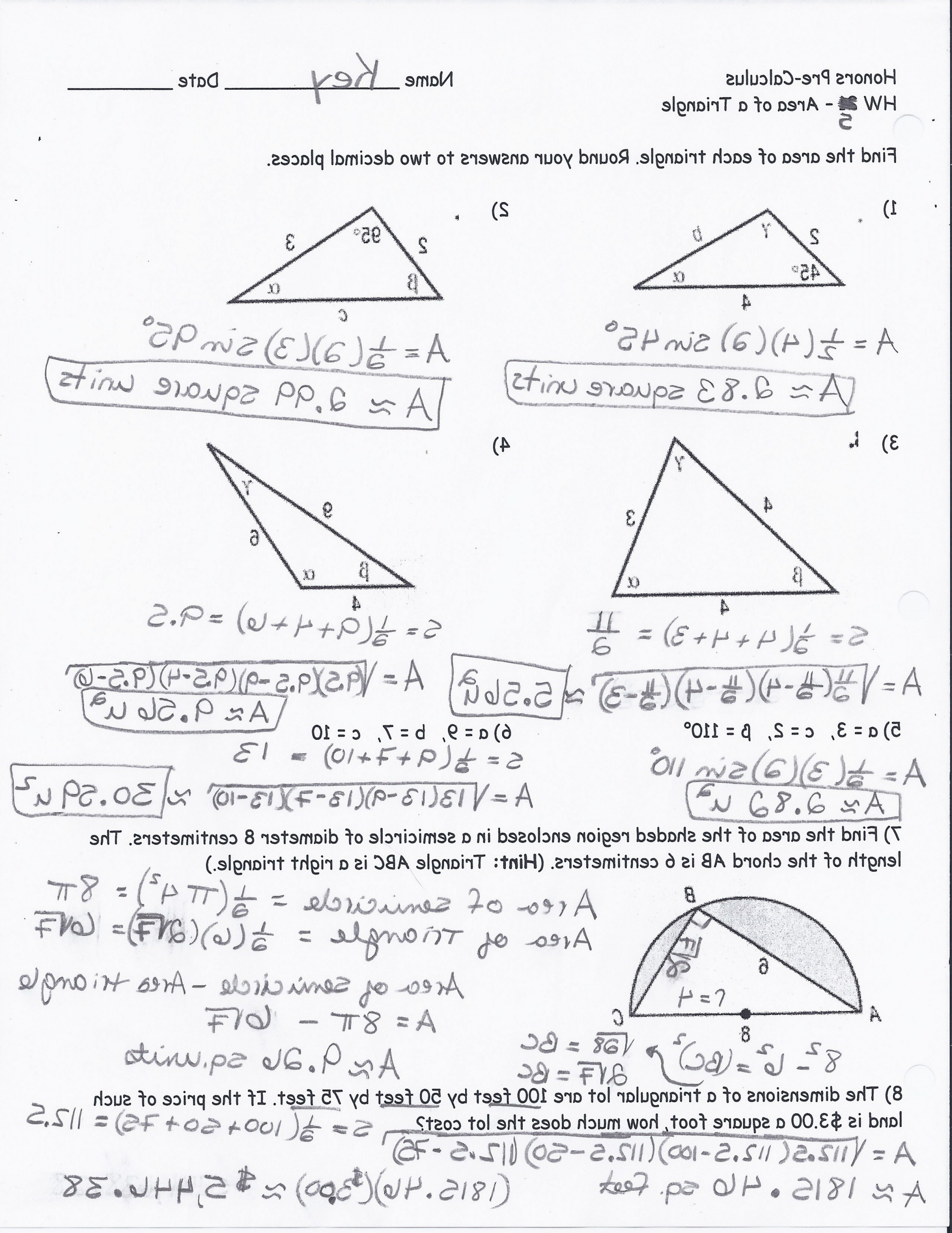 Right Triangle Trigonometry Worksheet With Answers  Soidergi Within Right Triangle Trigonometry Worksheet Answers