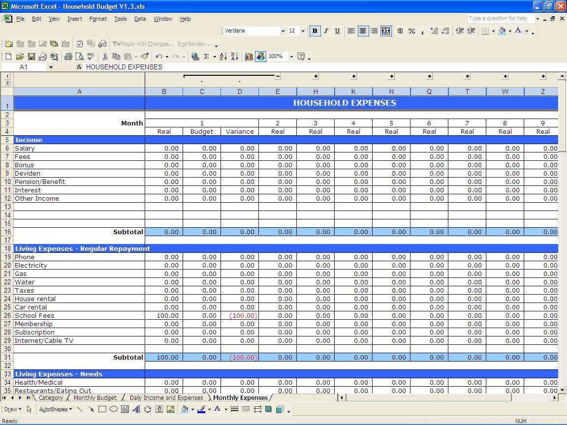 Sample Wedding Budget Spreadsheet Excel Y Project Simple Monthly ... Throughout Sample Budget Spreadsheet Excel