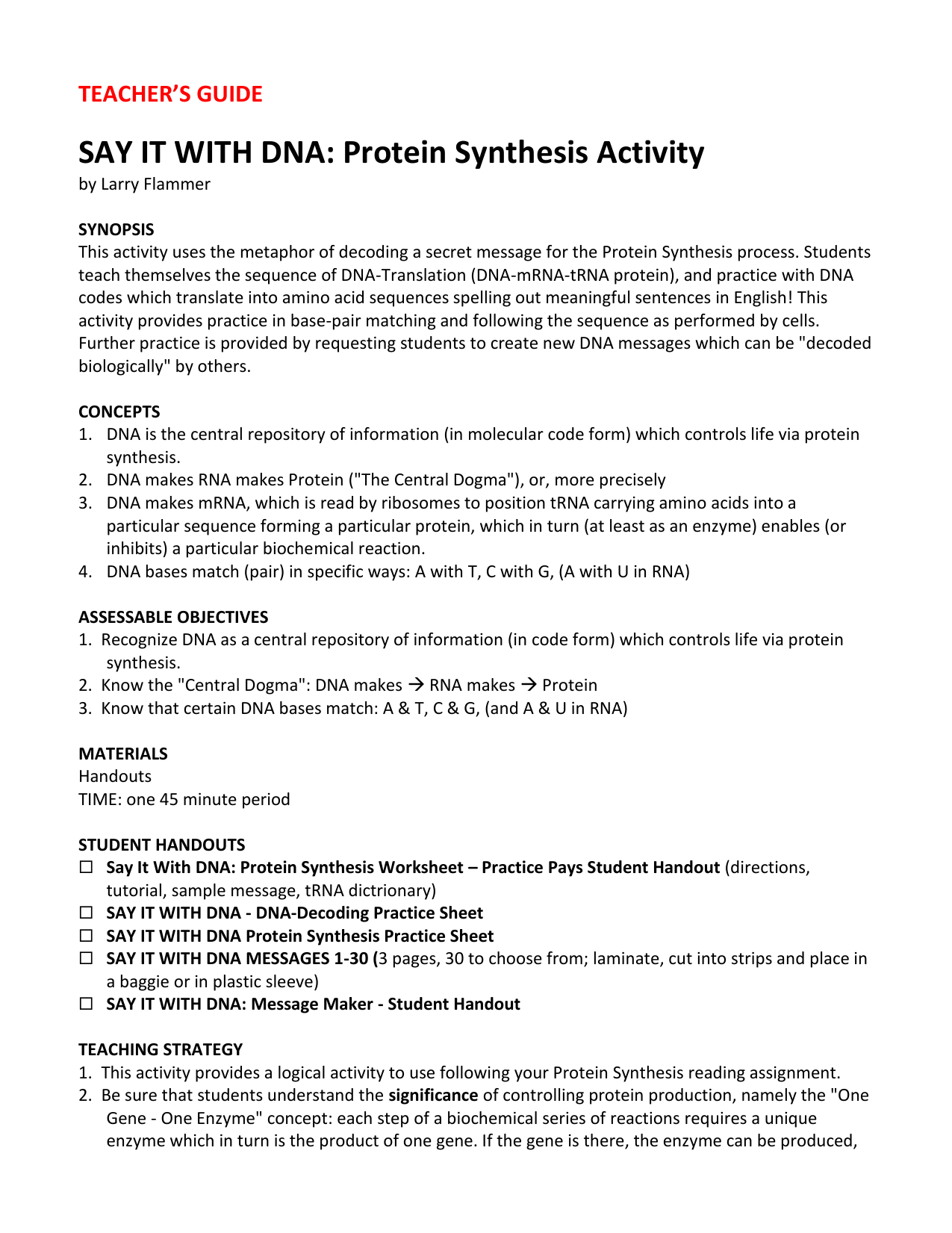 Say It With Dna Protein Synthesis Worksheet Practice For Say It With Dna Protein Synthesis Worksheet