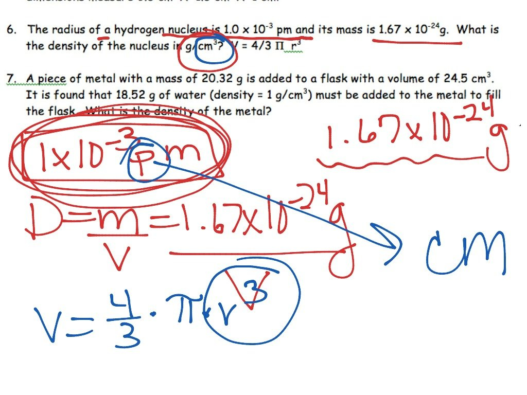 Science 8 Density Calculations Worksheet  Newatvs In Density Calculations Worksheet Answer Key