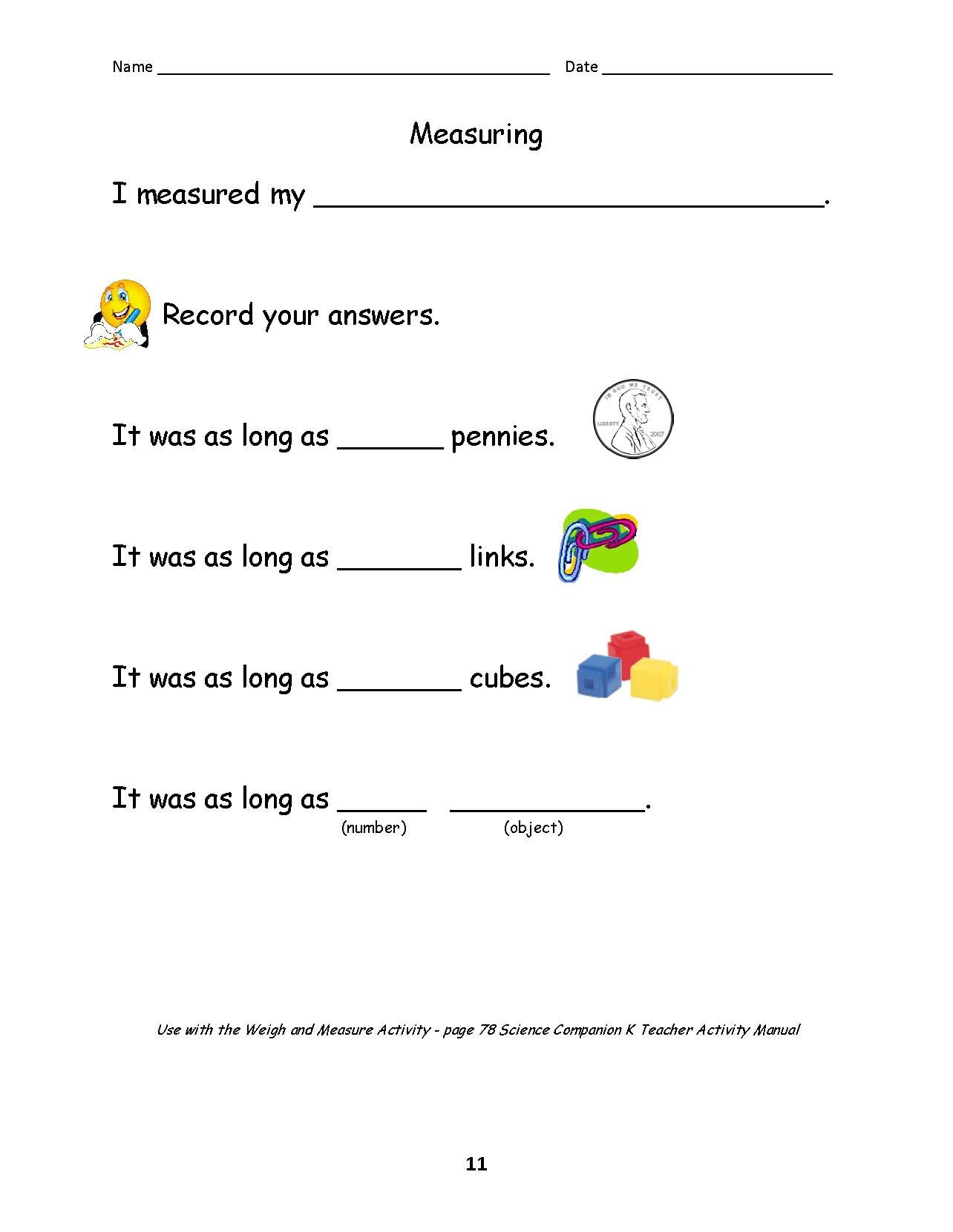 Science And Children Online Connections As Well As Science Instruments And Measurement Worksheet Answers