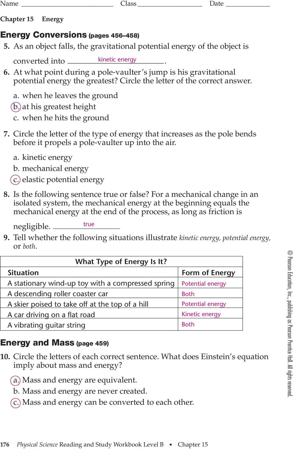 Section 152 Energy Conversion And Conservation Worksheet Answers Along With Energy Conversion And Conservation Worksheet Answers 5 2