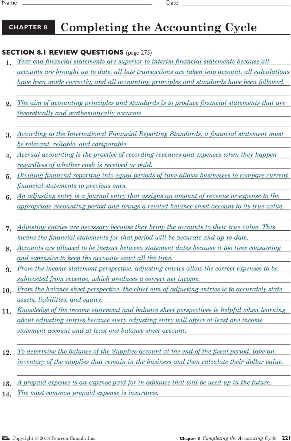 Section 81 Review Questions Page 275  Pdf Also Chapter 8 Business Organizations Worksheet Answers