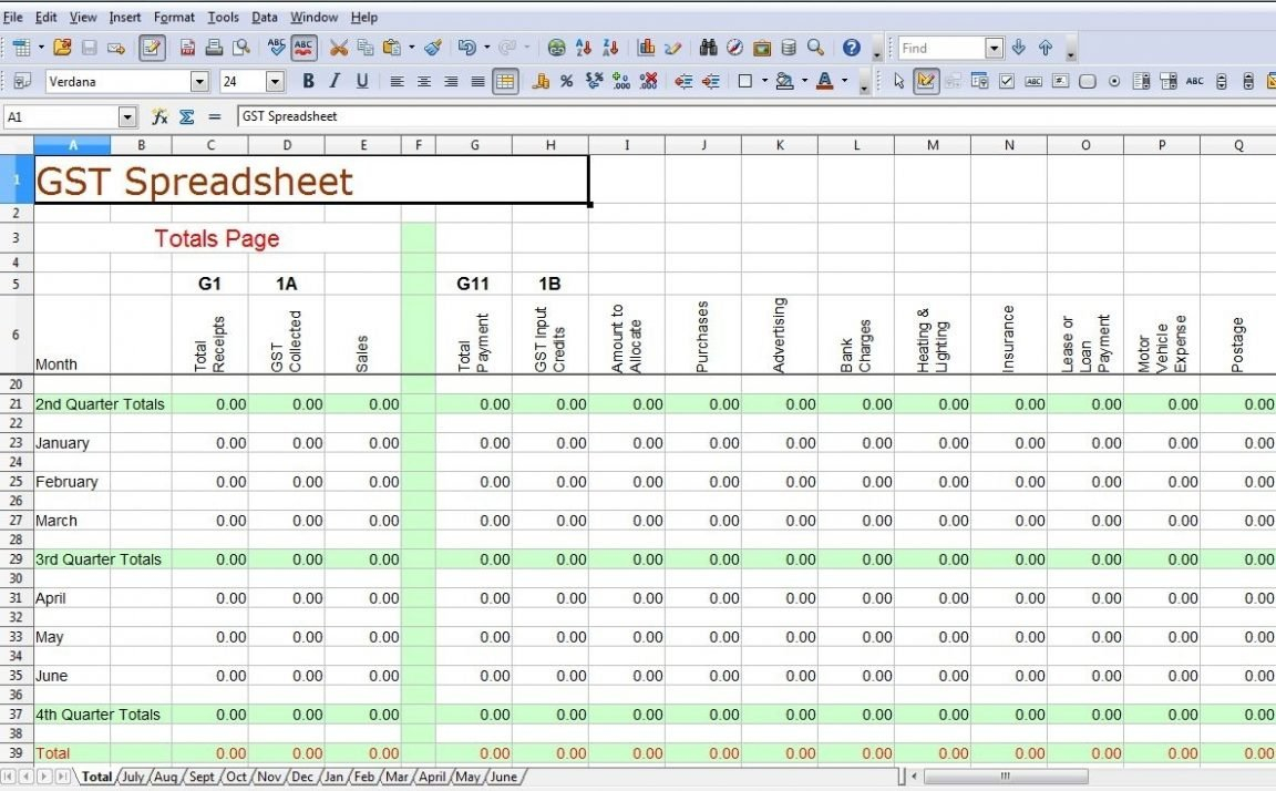 Simple Accounting Spreadsheet For Sole Trader – Spreadsheet Collections Throughout Sole Trader Accounts Spreadsheet