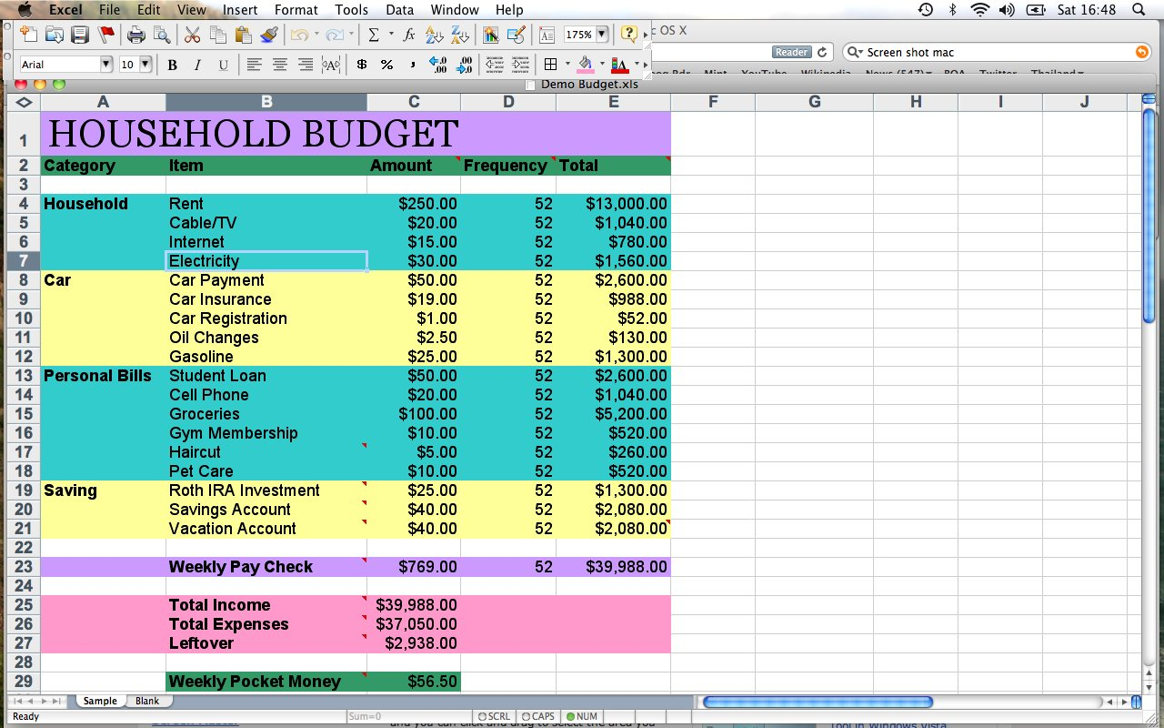 Simple Home Budget Spreadsheet Family Template How To Make Excel ... Along With How To Make Home Budget Plan
