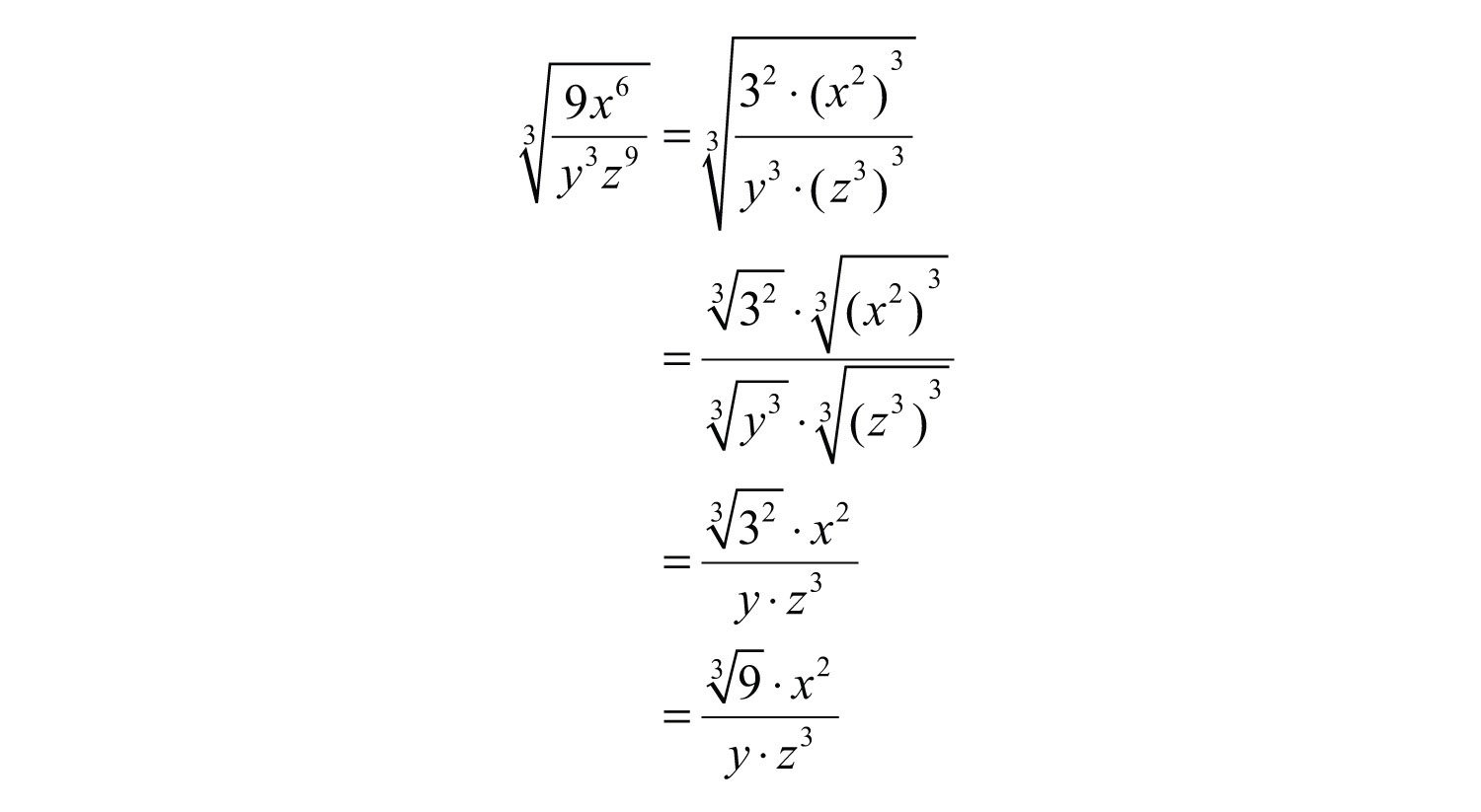 Simplifying Radical Expressions Or Product And Quotient Rule Worksheet With Answers