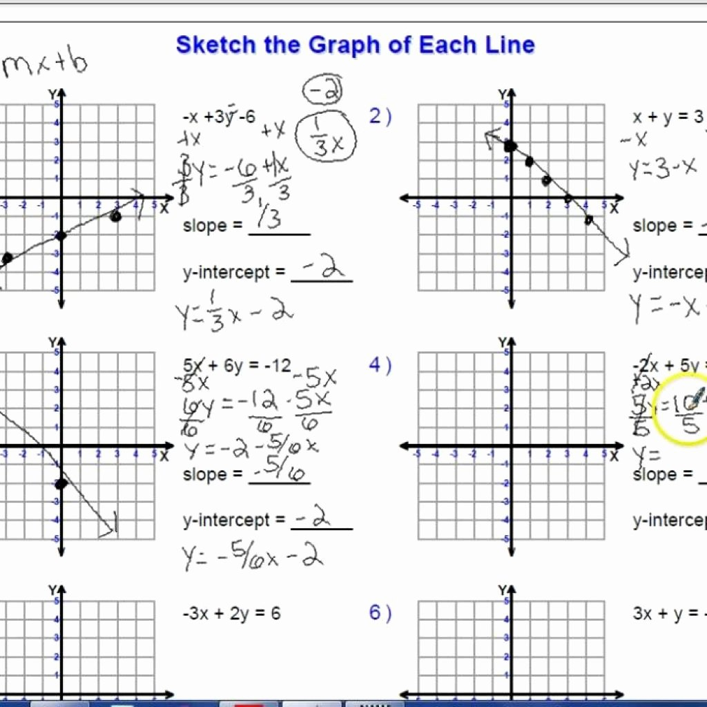 Sketch The Graph Of Each Line At Paintingvalley  Explore As Well As Sketch The Graph Of Each Line Worksheet Answers