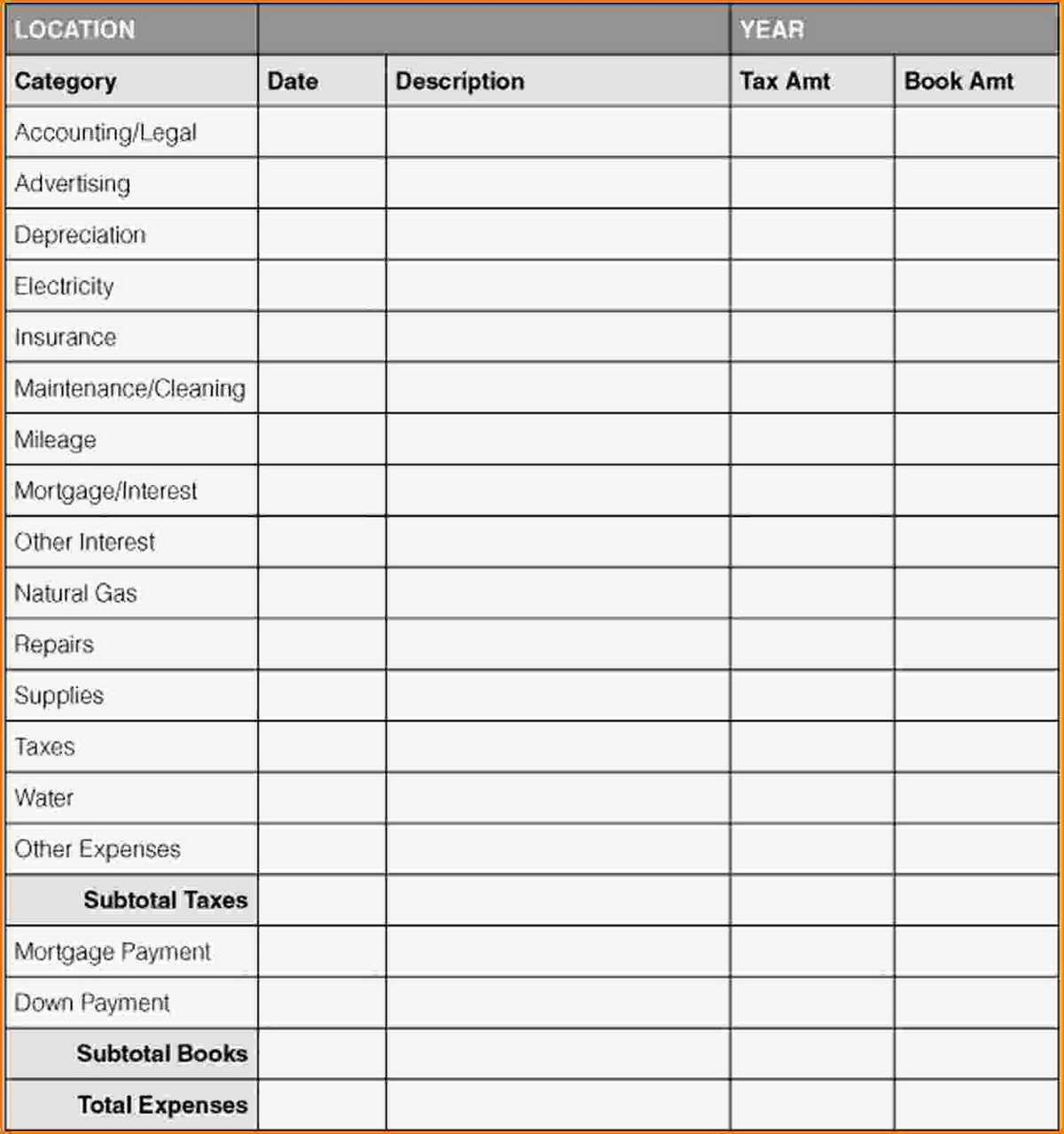 Small Business Expense Tracking Spreadsheet Sheet Papillon Northwan ... Regarding Expense Tracking Spreadsheet Template