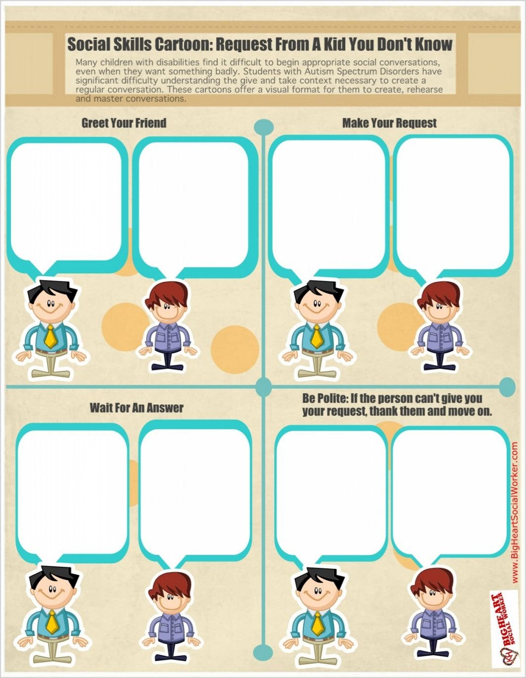 Social Skills Worksheets For Autism  Yooob Or Social Skills Worksheets For Autism