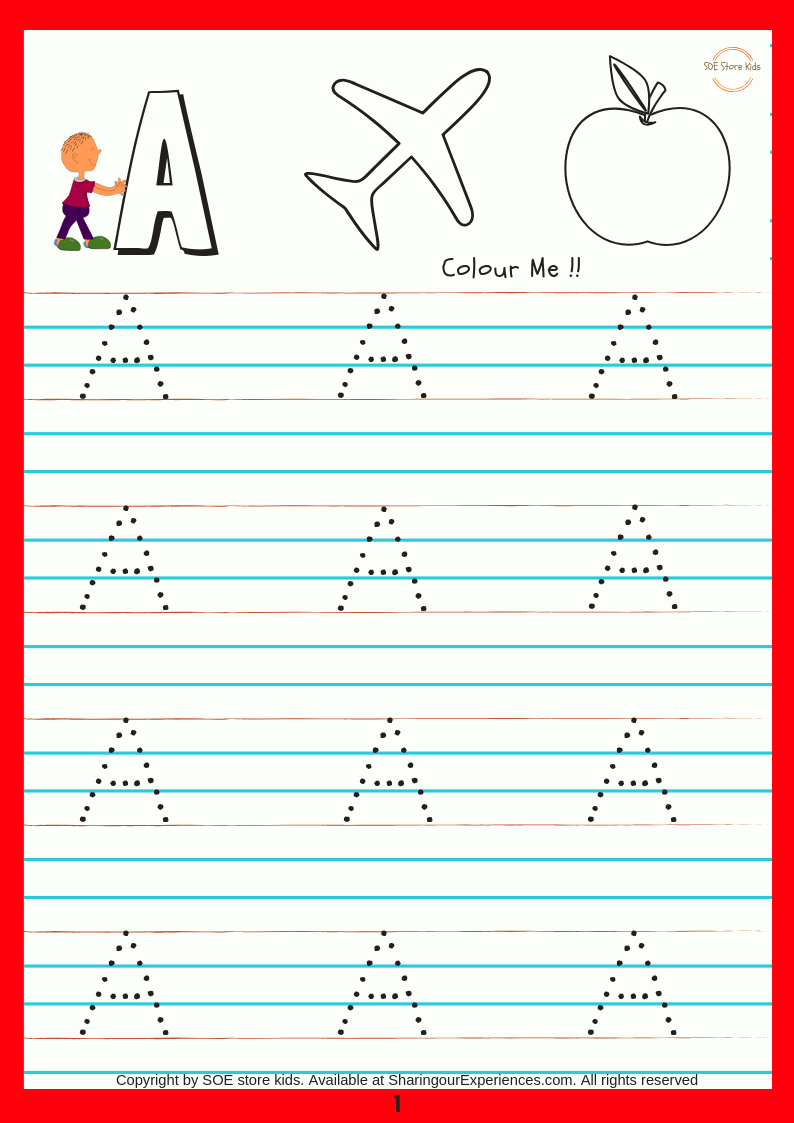 Soe Store Kids Capital Alphabets Writing Activity Book For Kids Together With Preschool Activities Worksheets
