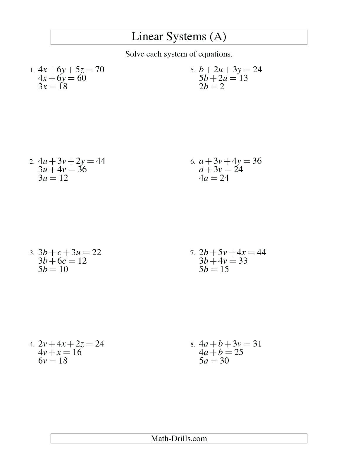 Solving Systems Of Linear Inequalitiesgraphing Math Solving And Within Solving Linear Inequalities Worksheet