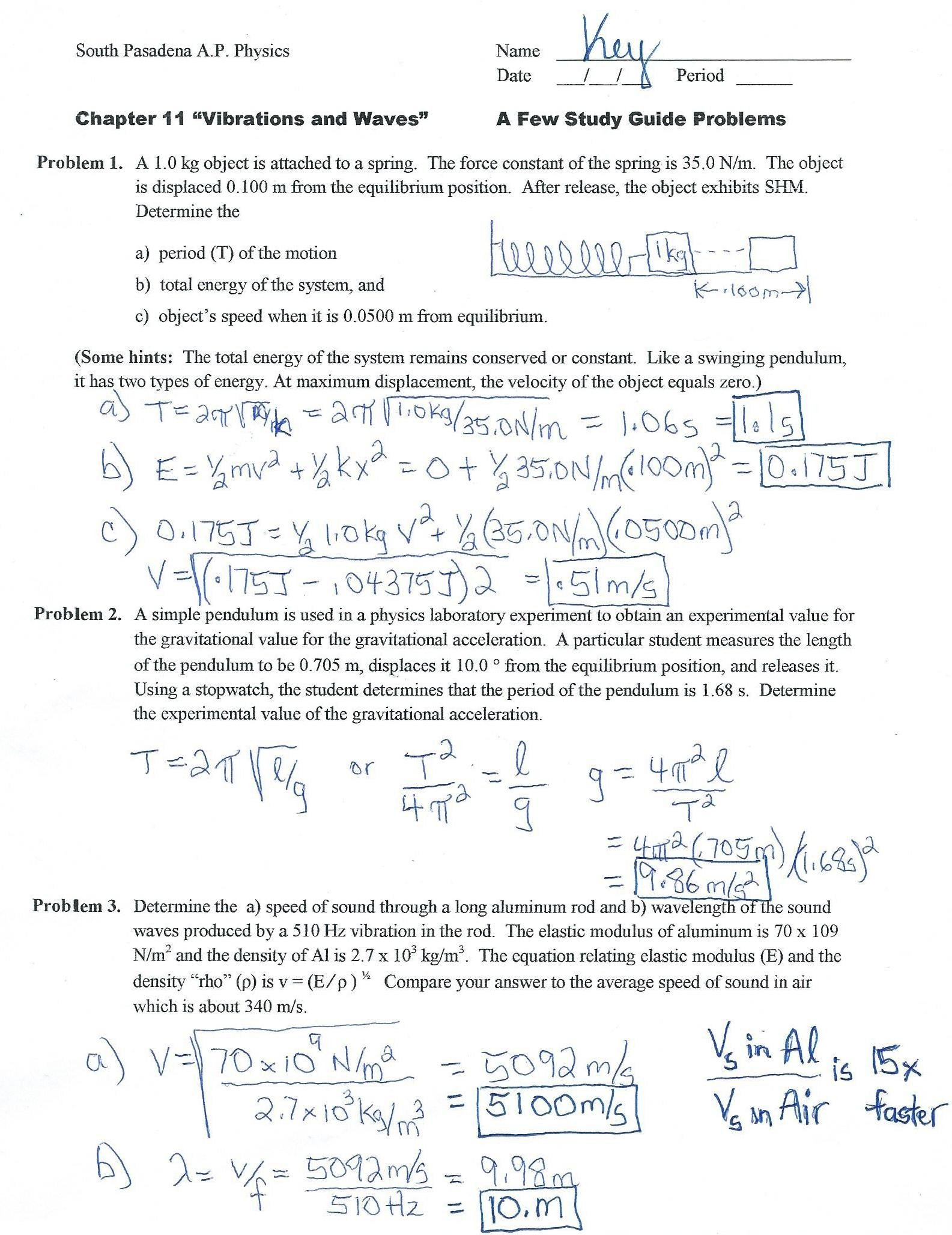 South Pasadena High School Inside Projectile Motion Worksheet Answers The Physics Classroom