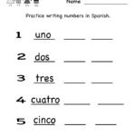 Spanish Worksheet  Free Kindergarten Learning Worksheet For Kids Pertaining To Learning Spanish Worksheets For Adults