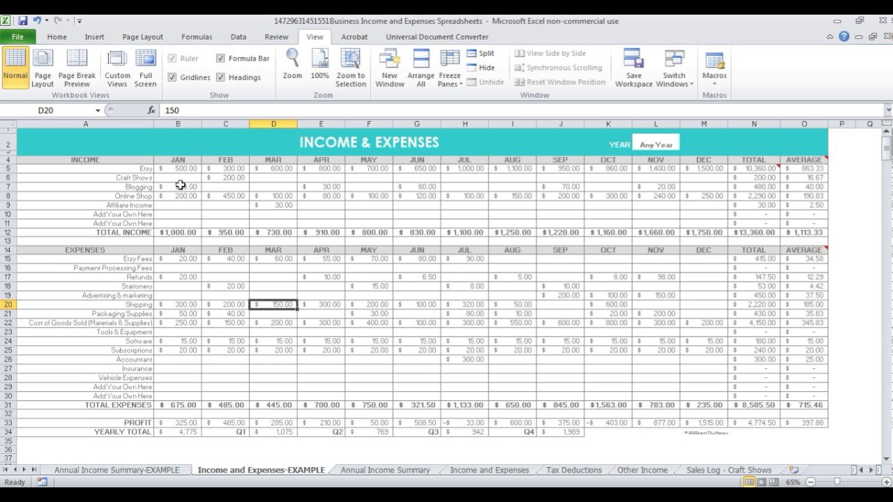 Spreadsheets To Keep Track Of Income And Expenses For Etsy Sellers & Online  Business Owners Together With Free Etsy Bookkeeping Spreadsheet