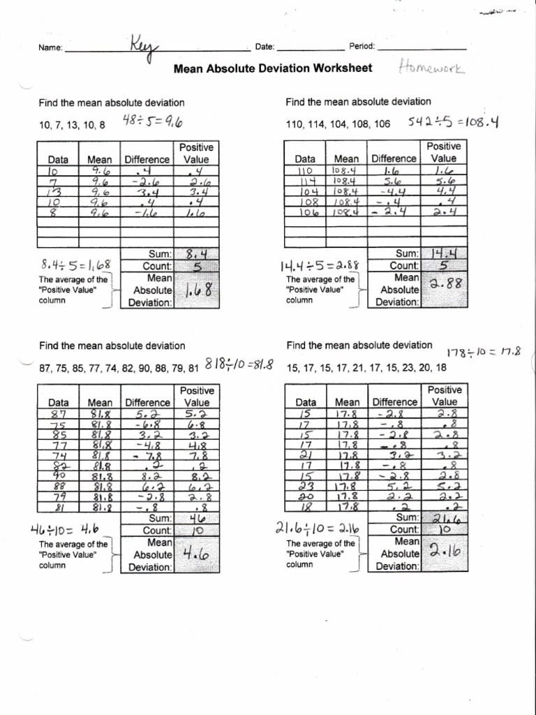 Standard Deviation Worksheet With Answers  Yooob Or Standard Deviation Worksheet With Answers Pdf