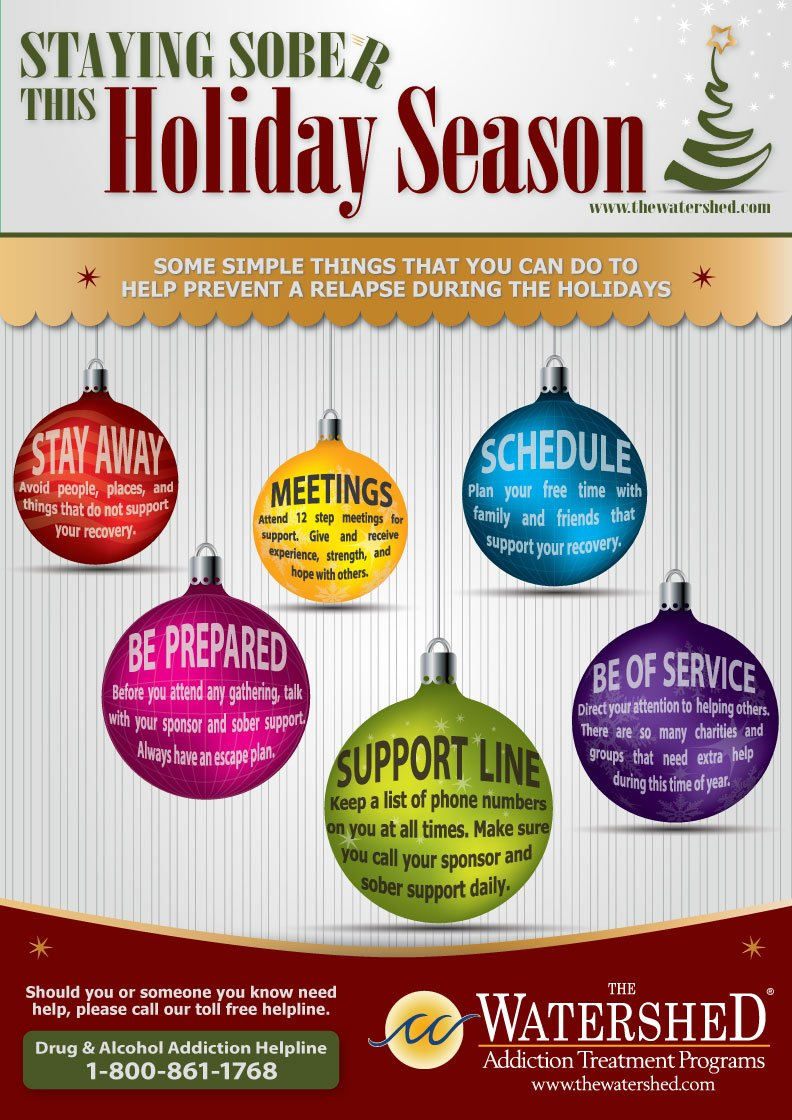 Staying Sober During The Holidays Infographic  The Watershed For Holidays And Recovery Worksheet