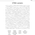 Stem Careers Word Search  Wordmint Inside Stem Careers Worksheet 1 Answers