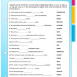 Suffixes  Adjectives Formed From Nouns And Verbs Worksheet  Free Inside Words Used As Nouns And Adjectives Worksheet