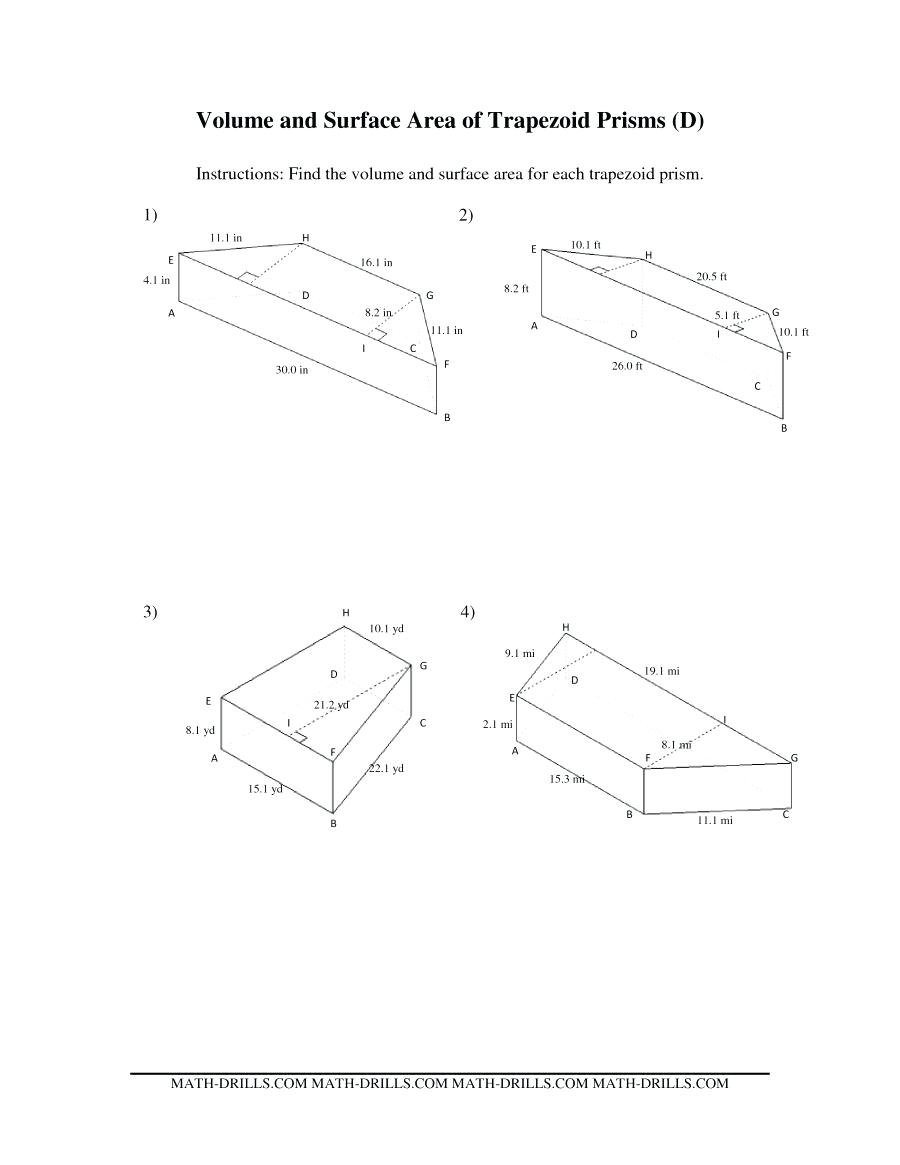 Surface Area Of Prisms Worksheet Math Related Post Surface Area Also 11 2 Surface Areas Of Prisms And Cylinders Worksheet Answers