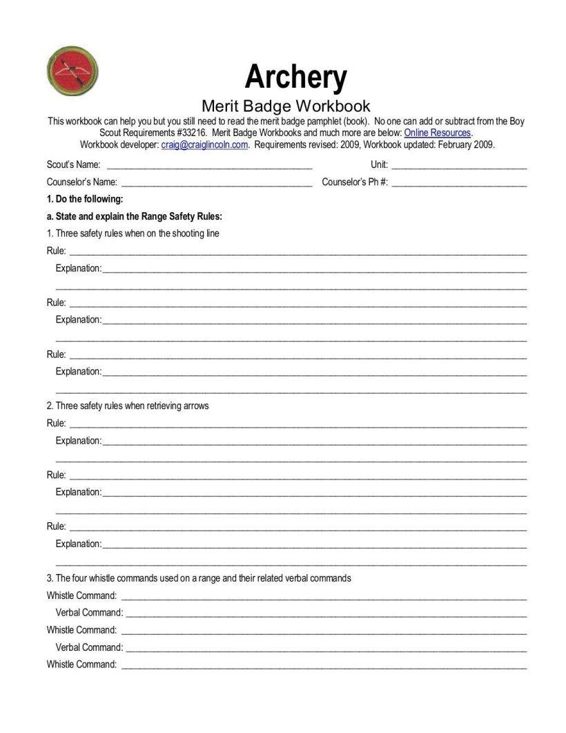 Swimming Merit Badge Worksheet Pdf Worksheets First Aid Citizenship Inside Family Life Merit Badge Worksheet Answers